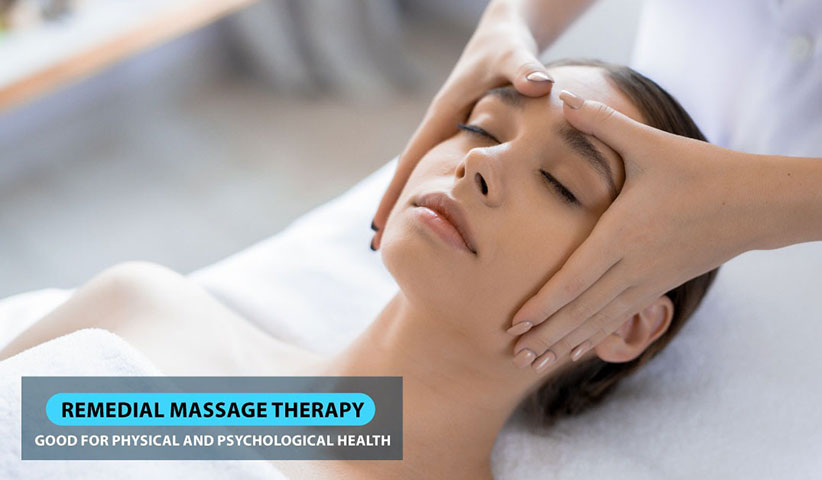 How can the Remedial massage therapy effects physically and psychologically